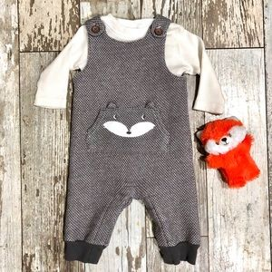 Just one you fox overalls w/ sweater